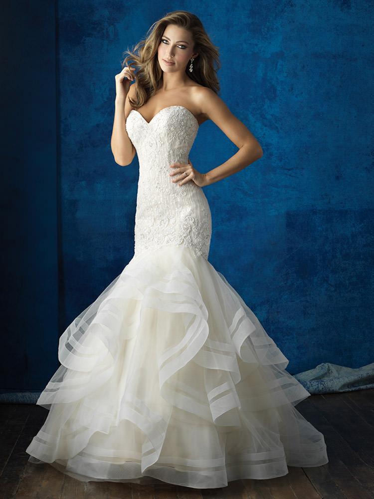 Wedding Dress with Ruffle Skirt