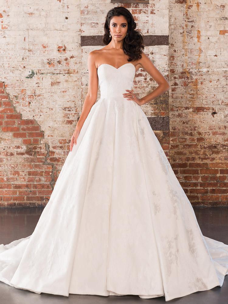 10e929098ef5 Monica's Bridal Justin Alexander 9858, Style 7B311713I Organza with ...