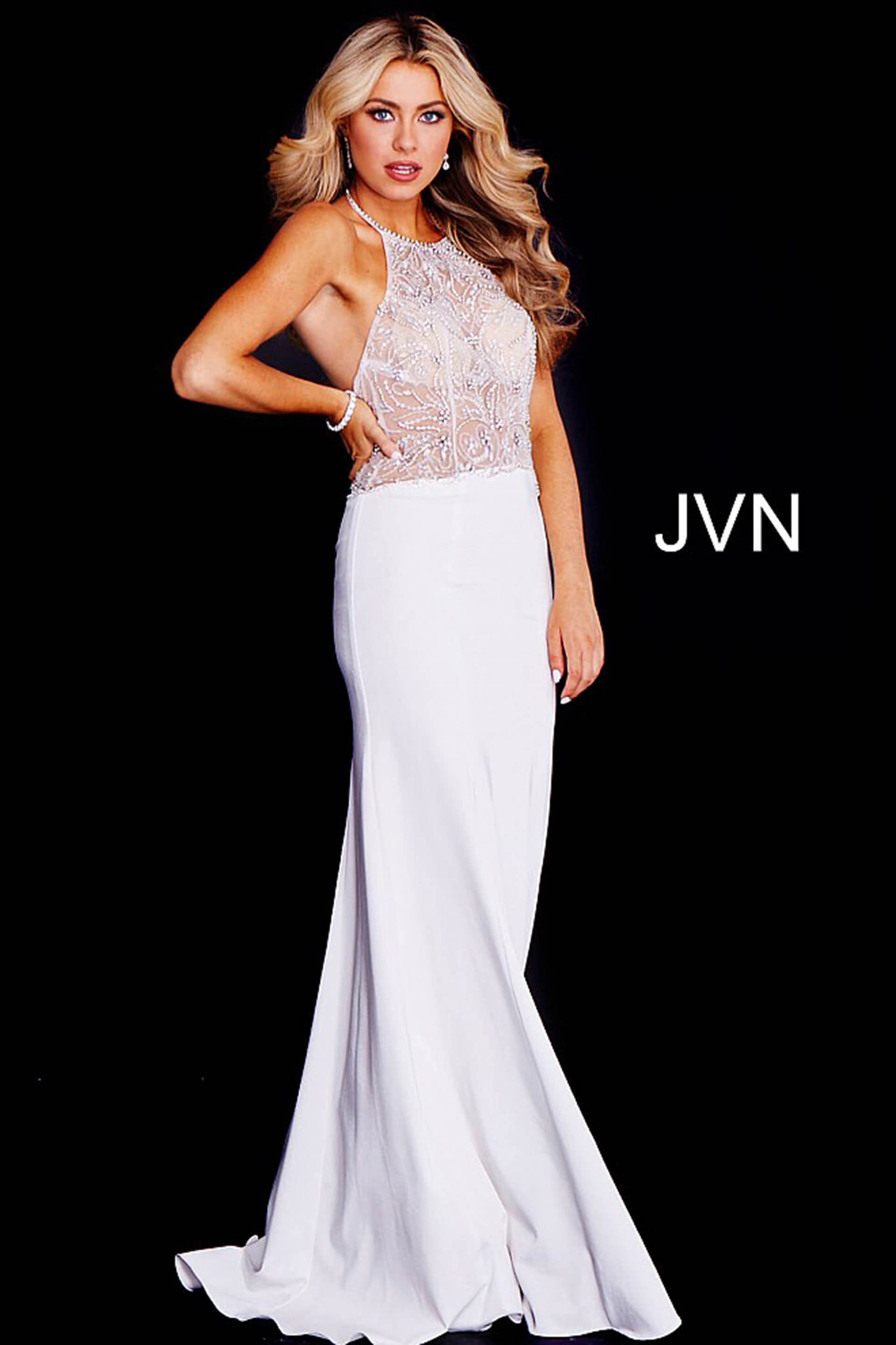 6d4e7603 Jovani Gold Sequin Mermaid Prom Dress With Illusion | Saddha